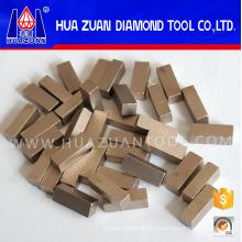 Высокая эффективность 1 метр алмазных сегментов для резки мрамора
