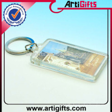 Wholesale cheap custom rectangle blank acrylic key chain
