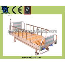two crank wooden mattress base bed