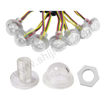 individually 12v 26mm 3 rgb full color led pixel point amusement light