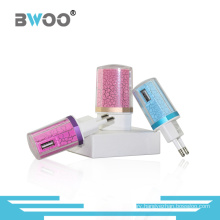 Colorful Single USB Travel Charger for EU Plug