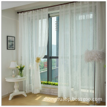 Exquisite Embroidery Designs White Bedroom Window Curtain Fabric