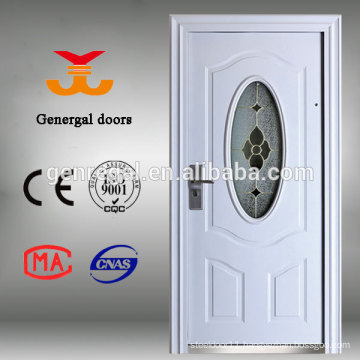 Classical oval glass Steel door
