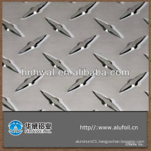 high quality and competitive price 1050 1060 1200 1235 diamond embossed aluminum sheet