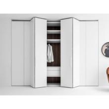 Pu peinture fini armoire à portes pliantes