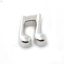 Novos encantos de música, pingente de prata charme na nota musical, nota musical encantos jóias