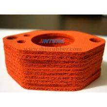 Junta de esponja de silicone, junta de espuma de silicone feita com esponja de silicone de célula próxima