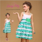 Sleeveless Eco-Friendly Mutilayer Teen Girls Dresses (1022#)