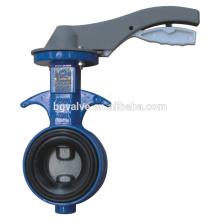 Válvula de mariposa de la serie BG360A Tipo de oblea cuerpo de aluminio ordinario