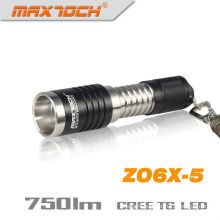 Maxtoch ZO6X-5 LED T6 XM-L Cree Zoomable Charger Flashlight Torch