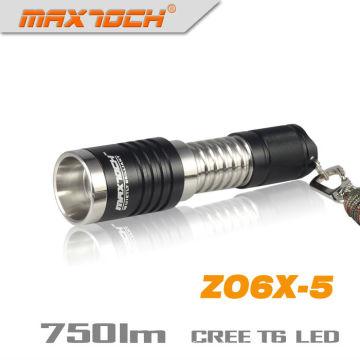 Maxtoch ZO6X-5 LED T6 XM-L Cree com zoom carregador lanterna tocha