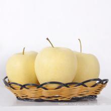 Свежее золотое яблоко Сочное яблочное сладкое