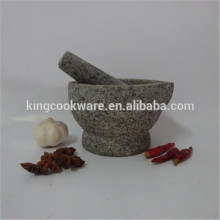 Low price for granite grey mortar and pestle for herb & spice grinder, stone kitchenware