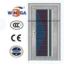 Sunproof Silber Farbe mit Glas Edelstahl Sicherheitstür (W-GH-12)