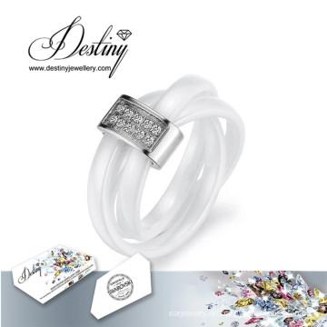 Schicksal Schmuck Kristalle von Swarovski Ceramic Ring