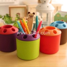 office kids plastic desk pen holder container