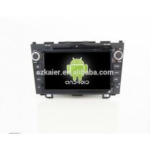Quad core android, lecteur dvd de voiture spéciale pour honda crv, Bluetooth, AIRPLAY, MIROIR-CAST, DVR, jeux, double zone, contrôle du volant