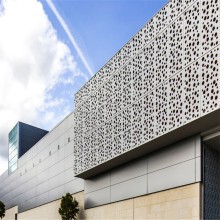 Punched Hollowed Exterior Wall Aluminum Cladding Panels