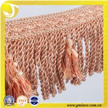 Китай Производитель Свадебные платья Костюмная ткань Сексуальная легкая обрезка кисточки