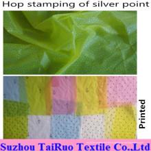 Tissu 100% en nylon de taffetas avec l'estampillage de houblon pour le tissu de vêtement