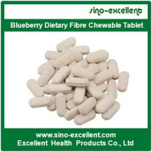 Alta qualidade Blueberry Dietary Fibra Chewable Tablet