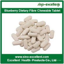 Tablette Chewable à la fibre alimentaire au bleuet de haute qualité
