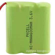 3.6V NiMH Battery Pack with 600mAh Capacity, No Memory Effect, Easy to OperateNew