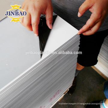 JINBAO brillant haute densité lisse 15mm mousse de pvc