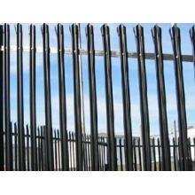 Clôture en palissade revêtue galvanisée avec différentes couleurs de fabrication chinoise