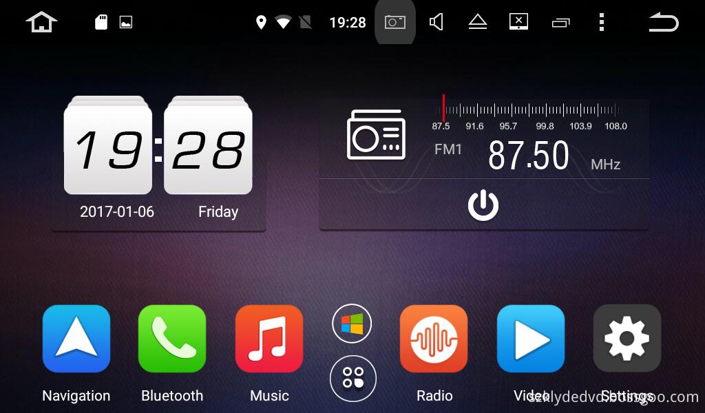 UI 3 OF android 6.0 car DVD for Hyundai SONATA 2015-2016
