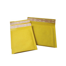 Anuncio publicitario autoadhesivo de burbujas de aire kraft en color dorado en blanco personalizado
