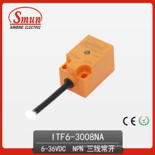 Interruptor de Proximidade Indutivo 6-36VDC Sensor de Três Fios DC PNP Não com 8mm de Detecção Disatance (ITF6-3008NA)