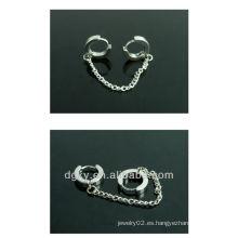 Corea del diseño quirúrgico de acero inoxidable cadena de la oreja piercing