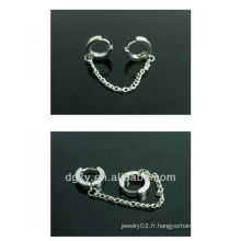 Korea design chirurgie en acier inoxydable chaîne de l'oreille piercing