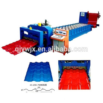 QJ 40-256-768 Glazed Tile Roll Forming Machine Machinery