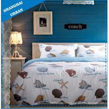Funda de edredón de algodón Conch