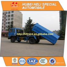 DONGFENG 4x2 8m3 gancho levantar camión de basura 170hp precio barato para la venta En China