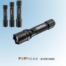 CREE Xr-E Q5 Телескопический алюминиевый светодиодный фонарик полиции (POPPAS-812-814-802)