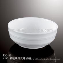 Tazón de cerámica, tazón de porcelana, tazón de arroz de porcelana