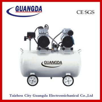 CE-SGS 50L 580W * 2 geräuschlos Öl-freie Luft-Kompressor