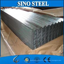 Feuille de toiture en acier galvanisée ondulée / feuille de toiture galvanisée