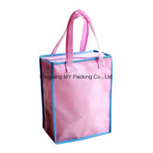 Round Shape PP Spunbond Non Woven Zipper Tote Shopping Bag