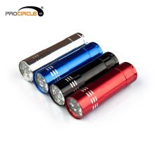 Tragbare wiederaufladbare LED Taschenlampe im Freien
