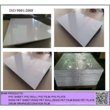 Feuille rigide imprimable de PVC blanc matériel en plastique de 300 Mircon pour des cartes à jouer