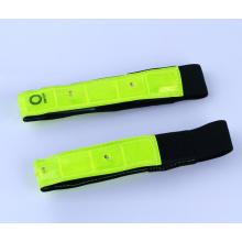 LED PVC reflektierende Slap Wrap elastische reflektierende Armbinde