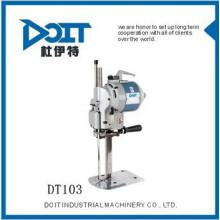 DT-103 Maquinaria de coser cortador de tela para piel de algodón línea skit fibra química y cuero