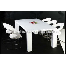 AM-T103 MDF in high gloss white dining set