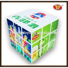 YJ YongJun profesional publicidad personalizada publicidad rompecabezas mágico cubo logo personalizado y el embalaje cubos de color cubos