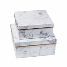 Marble Gift Box Large Packaging for Make Up