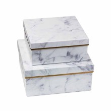 Embalagem grande da caixa de presente de mármore para maquiagem